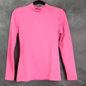 Champion Pink Mock Neck Athletic Long Sleeve Top